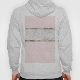 Strawberries and cream - grey marble & rose gold Hoody
