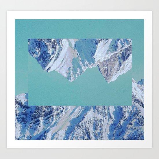 Falling. Art Print