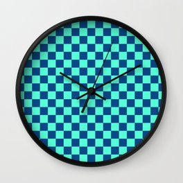 Checkered Pattern VI Wall Clock