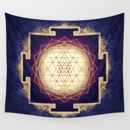 Sri Yantra IX Wall Tapestry