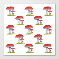 Toadstool Pattern Canvas Print