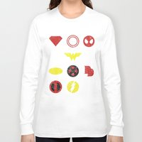 super heroes Long Sleeve T-shirts featuring Super Simple Heroes by Resistance