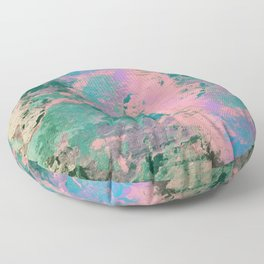 Pink and Green Paint Floor Pillow