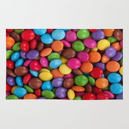 cute rainbow colors chocolate candy Rug