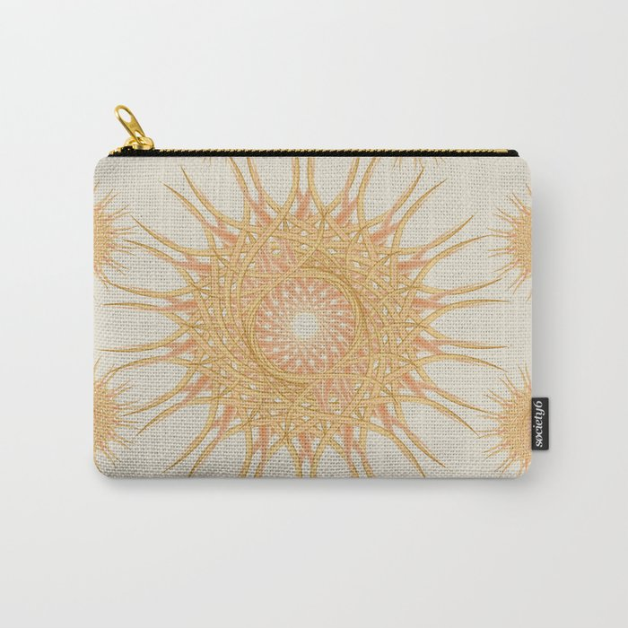 Mandala peach and orange Carry-All Pouch