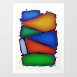 Pillow fight Art Print