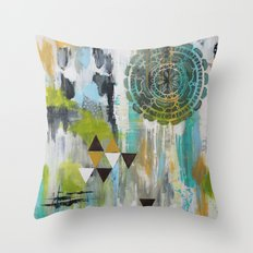 Mindful Past Throw Pillow