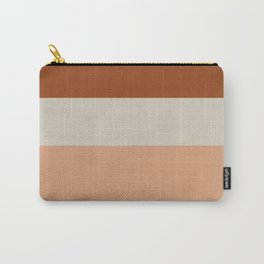 Minimalist Color Block Triple Stripe in Apricot, Rust Clay, and Putty Carry-All Pouch