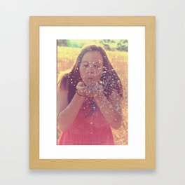 Blow away the fears. Framed Art Print