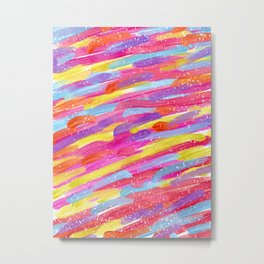 ML- Colorful Acrylic Painting Metal Print