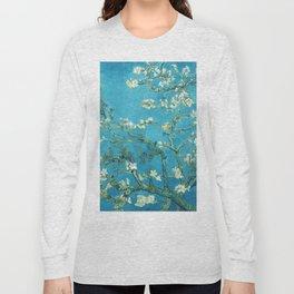 Vincent van Gogh Blossoming Almond Tree (Almond Blossoms) Light Blue Long Sleeve T-shirt