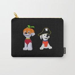 Halloween Pumpkin Pirate Dog Carry-All Pouch