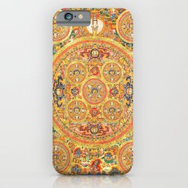 Buddhist Mandala 44 Five Circles iPhone Case