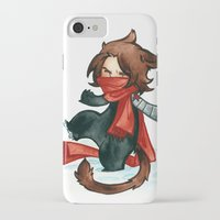 bucky iPhone & iPod Cases featuring winter - bucky by cynamon