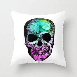Boho Skull I Throw Pillow