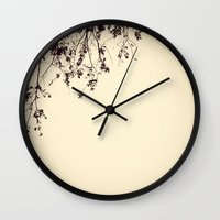 silhouette Wall Clocks featuring Silhouette by Skye Zambrana