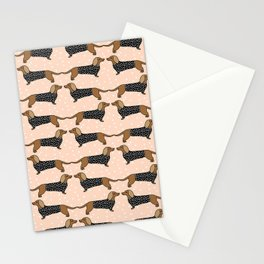 Happy Dachshund Dogs by Andrea Lauren  Stationery Cards