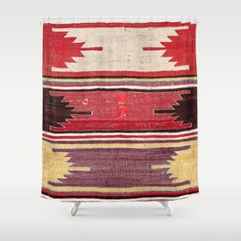 Nevsehir Cappadocian Central Anatolian Kilim Print Shower Curtain