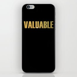 Valuable iPhone Skin