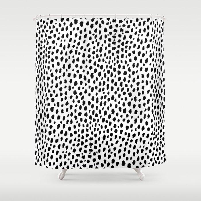 Dalmatian Spots (black/white) Duschvorhang