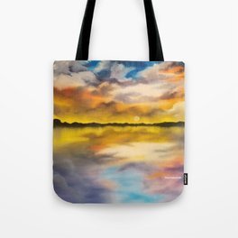 Dramatic Dream, beautiful sky, sunset, waterscape, skyscape Tote Bag