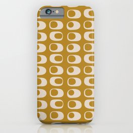 Googie Midcentury Minimalist Pattern in Gold iPhone Case