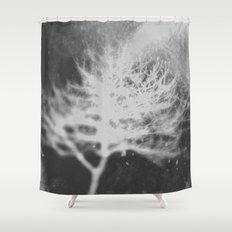 White Tree Shower Curtain