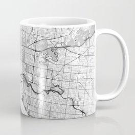 Melbourne City Map Gray Coffee Mug
