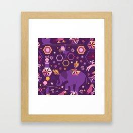 Hexagon circus Framed Art Print