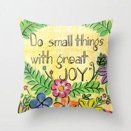 Small Joy Throw Pillow
