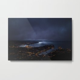 Bergen At Night Metal Print