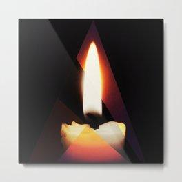 Tri-Flame Metal Print