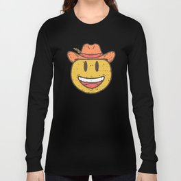 Cowboy Rancher cattleman  Smiley Gift Long Sleeve T-shirt
