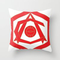 fire emblem Throw Pillows featuring emblem by arsenalgooner