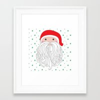 santa Framed Art Prints featuring Santa by Doucette Designs