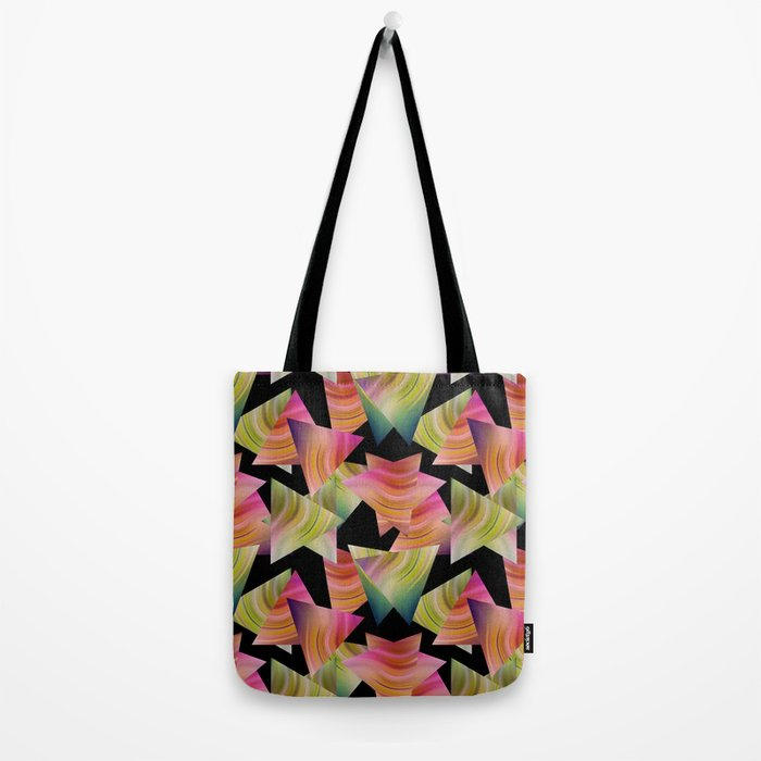 Abstraction . Rainbow triangles . Tote Bag