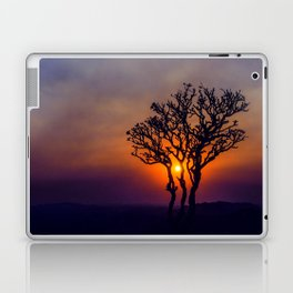A Sunset Silhouette in Hampi, India Laptop & iPad Skin