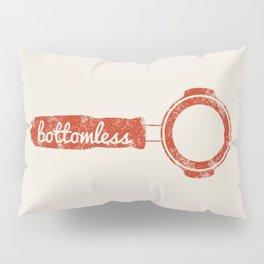 Bottomless Portafilter // Barista Espresso Machine Coffee Shop Humor Graphic Design Pillow Sham