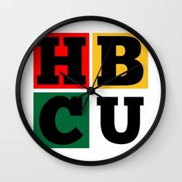 HBCU Block Letters Grad Wall Clock