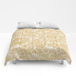 Floral in Yellow Comforters