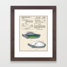 Stadium Patent - Colour Framed Art Print