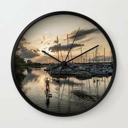 River Relaxation Wall Clock