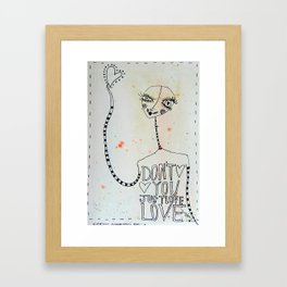 Don't you just Love... Love Framed Art Print