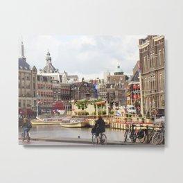 Bike Ride in Amsterdam Metal Print