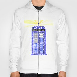 Doctor Who TARDIS Words of Wisdom Hoody
