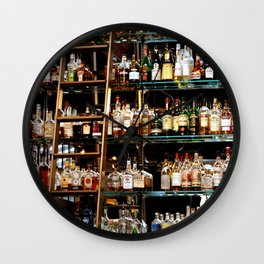 BOTTLES ALL IN A ROW Wall Clock