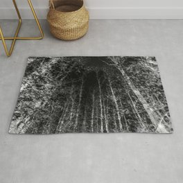 Black and white tree photography - Watercolor series #8 Rug