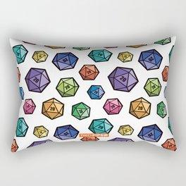 Colrful D20s Rectangular Pillow