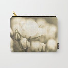 Peaceful White Roses (vintage flower photography) Carry-All Pouch