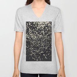 Sparkling BLUSH YELLOW BLACK Lady Glitter #1 #decor #art #society6 Unisex V-Neck